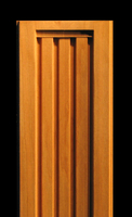 Image Pilaster - Squared Deco Flutes on Reverse Curve