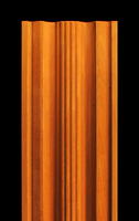 Image Pilaster - Rounded Center Flutes and Profiles