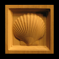 Image Corner Block - Scallop Shell