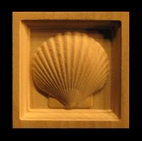 Image Corner Block - Scallop Shell