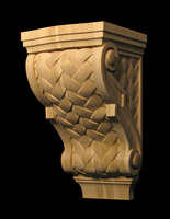 Image Corbel -Lattice Weave and Volutes