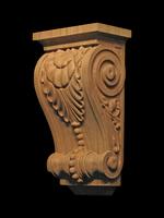 Image Custom Corbel - Leaf and Bead