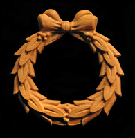 Image Onlay - Laurel Wreath with Bow