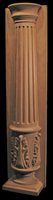 Image Column - Half Round Pilaster, Fluted Column, Acanthus Pedestal, Doric Capital