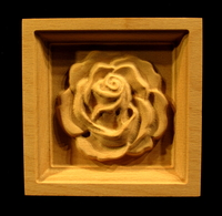 Image Corner Block - Carved Rose #1