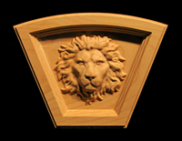 Image Keystone - Regal Lion - Arched Top