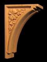 Image Carved Bracket - Shamrock / Clover - 10T x 7D x 2.5W