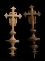 Image Cross and Spindle - Full Round
