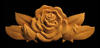 Image Onlay - Rose with Leaves & Buds - Short