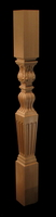 Image Newel Post - Acanthus with Fluted Base