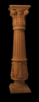 Image Column Full Round - Acanthus Base,  Fluted Body, Corinthian Top 8