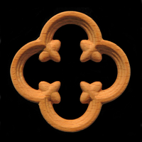 Image Onlay - Gothic Quatrefoil - Pierced