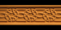 Image Frieze Moulding - Celtic Knot 2
