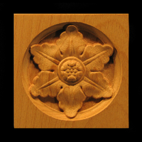 Image Corner Block - Flower, 6 Petal
