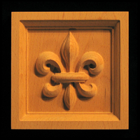 Image Corner Block - Fleur de Lis #3