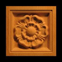 Image Corner Block - Classic Flower - Square Inset