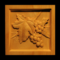 Image Corner Block - Wine Grapes - Square Inset