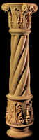 Image Column Full Round - Acanthus Base,  Spiral Body, Corinthian Top - 6