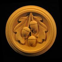 Image Rosette - Oak Leaves and Acorns