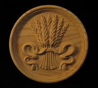 Image Medallion - Wheat and Ribbon