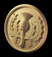 Image Scottish Thistle Medallion 36