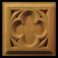 Image Medallion - Gothic Quatrefoil Square