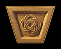 Image Keystone - Celtic Eternal Knot (flat top)