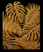 Image Tropical Leaves Panel