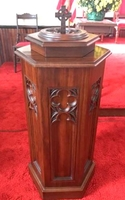Image Baptismal Font with Gothic Features