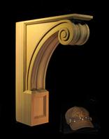 Image Large Corbel - Omega Mantel