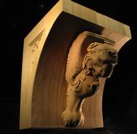 Image Winged Lion Corbel - 16 x 16 x 19