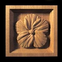 Image Corner Block - Hibiscus