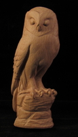 Image Owl Carving - Half Round