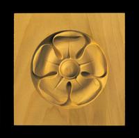Image Corner Block - Classic 5 Petal Flower - Round Inset