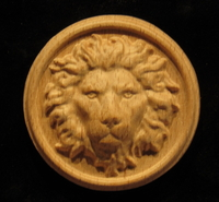 Image Rosette - Regal Lion