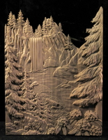 Image Carved Waterfall Panel