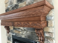 Image Oak Leaf Mantel
