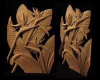 Image Bird of Paradise and Hummingbird Panel