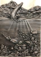 Image Marathon Coach Whale Breach - Coral, Turtle, Whale