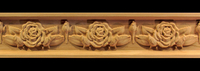 Image Frieze Moulding - Rose Flower with Buds