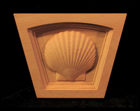 Image Keystone - Scallop Shell - Flat Top