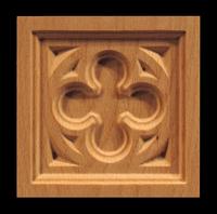 Image Corner Block - Gothic Quatrefoil