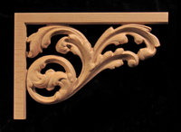 Image Stair Bracket - Acanthus Whimsey