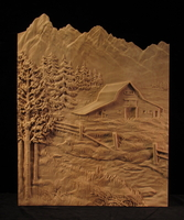 Image Tetons and Barn Carving