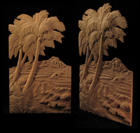 Image Panel - Beach and Palms