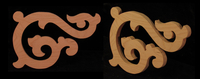 Image Stair Bracket Scroll - Custom Gingerbread cut out.