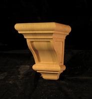 Image CLEARANCE - Classic Craftsmen Corbel - 6 x 6 x 8 - Red Oak