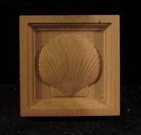Image CLEARANCE - (5PC) - Scallop Shell - Corner Block - 3.25