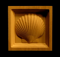 Image CLEARANCE - Scallop Shell Corner Block - (8pc) - 2.25