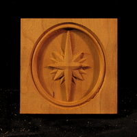 Image CLEARANCE - Rose Compass Block - (4pc) - 3.5